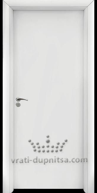 Интериорна HDF врата, модел 030 Бяла