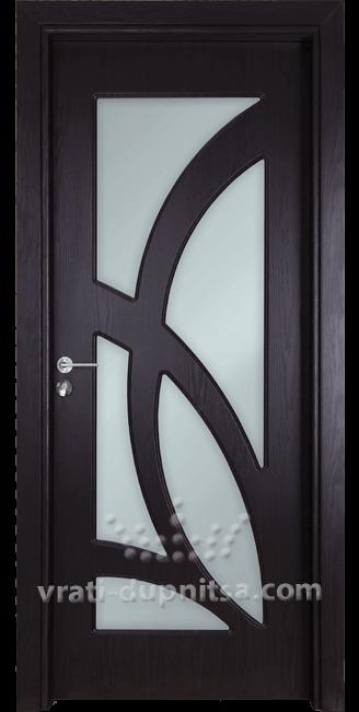 Стъклена интериорна врата Гама 208
