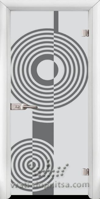 Стъклена интериорна врата модел Sand G 14-6
