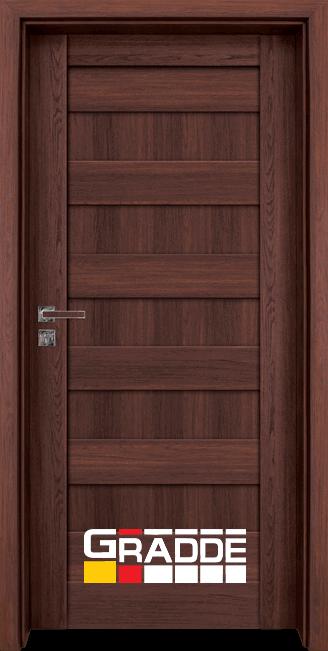 Интериорна HDF врата, модел Gradde Aaven Voll, Шведски Дъб