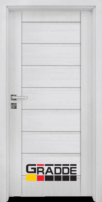 Интериорна HDF врата, модел Gradde Axel Voll, Сибирски Лиственица