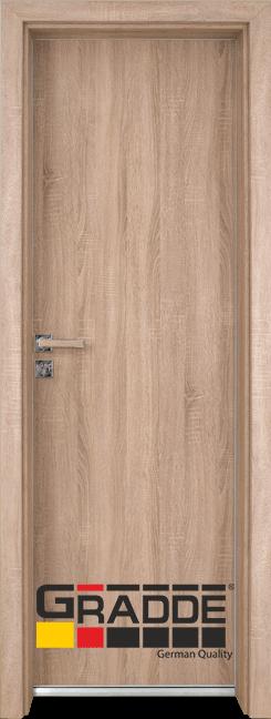 Алуминиева врата за баня – Граде цвят Дъб Вераде