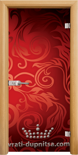 Стъклена интериорна врата модел Print G 13-11