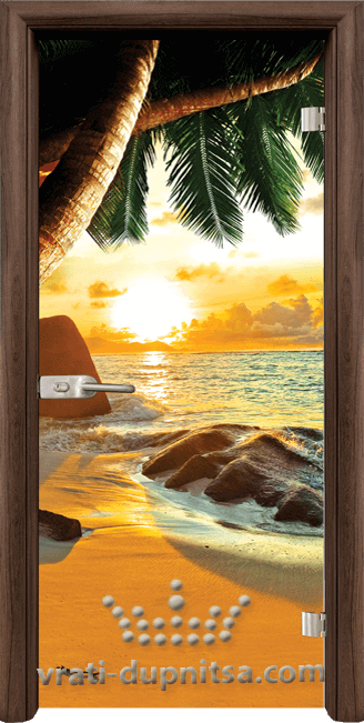 Стъклена интериорна врата модел Print G 13-14