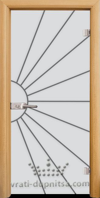 Стъклена интериорна врата модел Sand G 13-2
