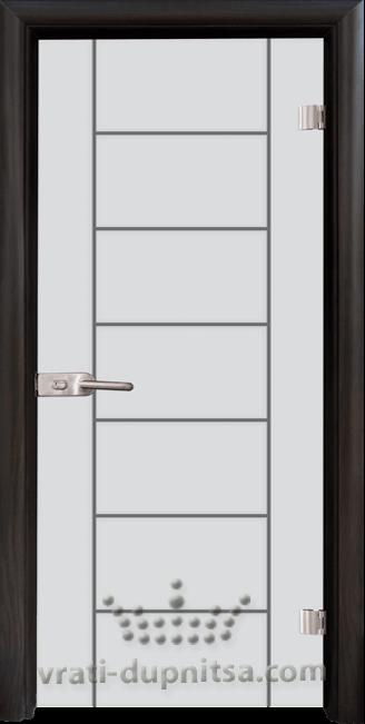 Стъклена интериорна врата модел Sand G 13-6